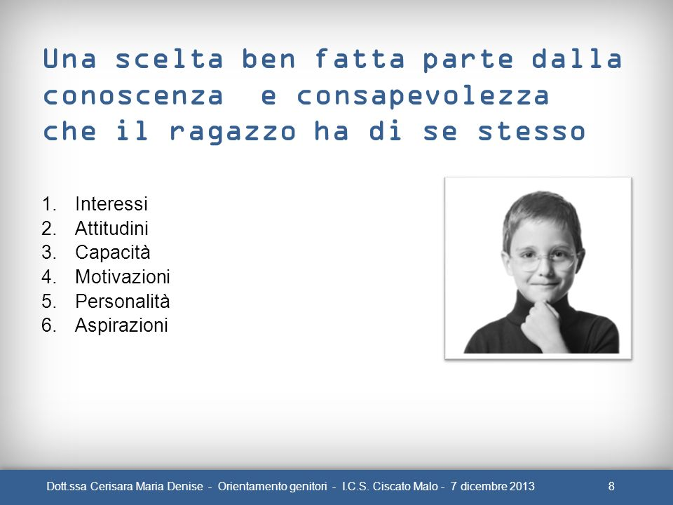 9Dott.ssa Cerisara Maria Denise - Orientamento genitori - I.C.S.
