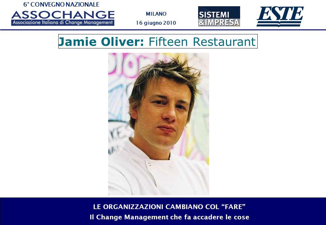 6° CONVEGNO NAZIONALE MILANO 16 giugno 2010 LE ORGANIZZAZIONI CAMBIANO COL FARE Il Change Management che fa accadere le cose Jamie Oliver: Fifteen Restaurant