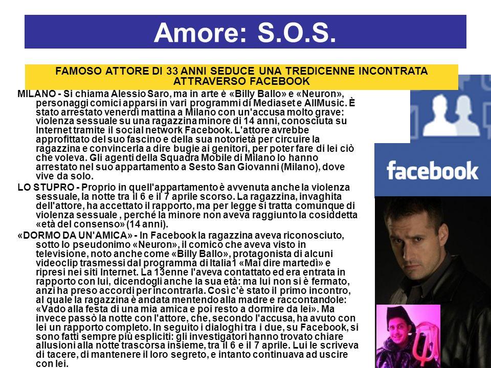 Amore: S.O.S. MILANO - Si chiama Alessio Saro, ma in arte è «Billy Ballo» e «Neuron», personaggi comici apparsi in vari programmi di Mediaset e AllMus