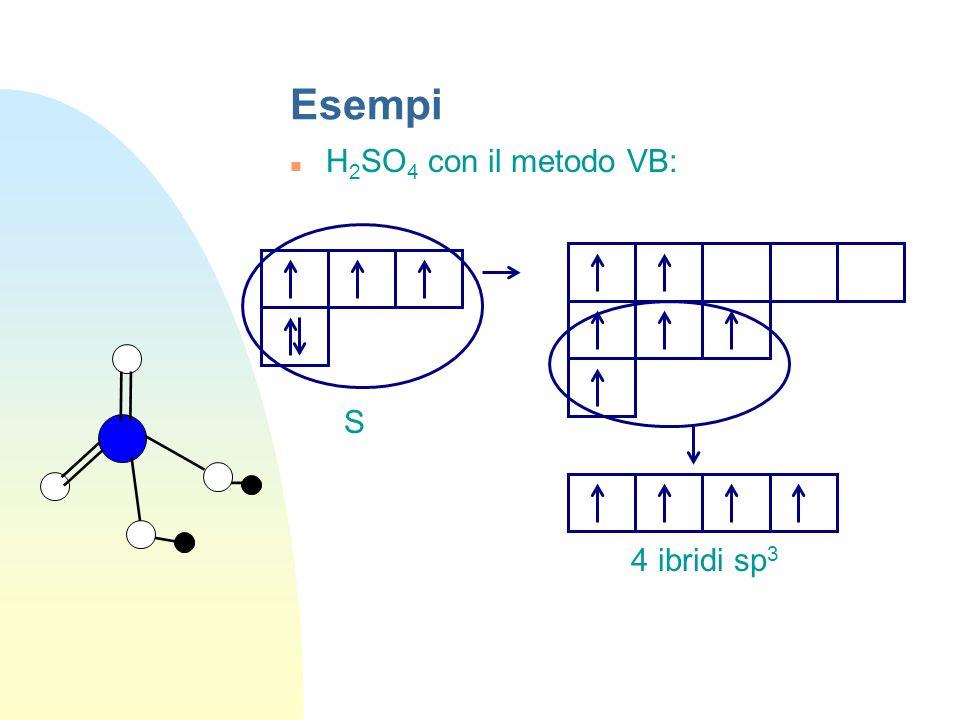 Esempi H 2 SO 4 con il metodo VB: