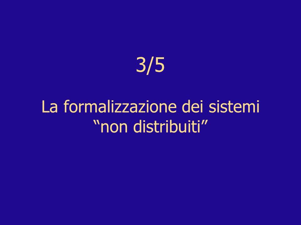 3/5 La formalizzazione dei sistemi non distribuiti