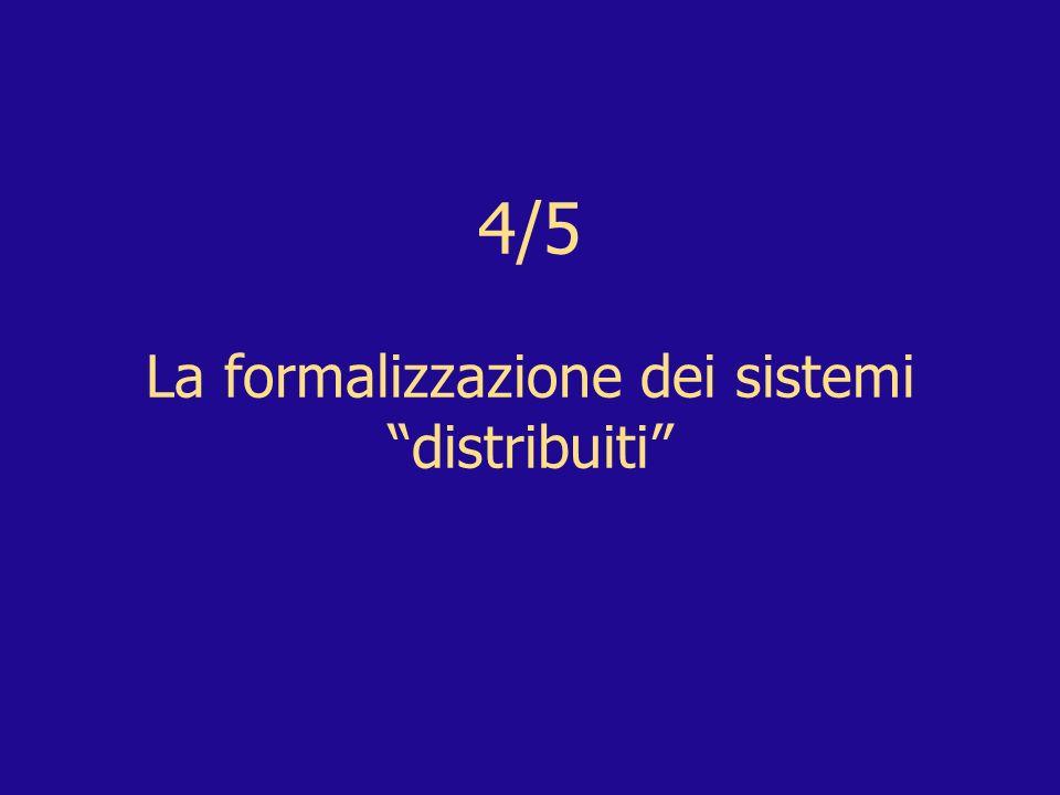4/5 La formalizzazione dei sistemi distribuiti