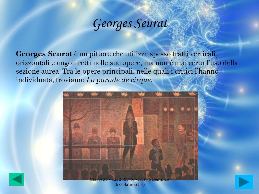 Georges Seurat Georges Seurat è un pittore che utilizza spesso tratti verticali, orizzontali e angoli retti nelle sue opere, ma non è mai certo luso d
