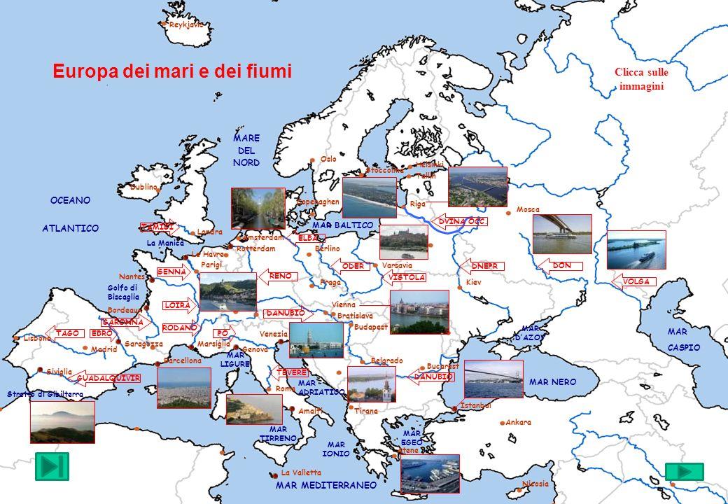 MariFiumiPorti e Città fluviali Oceano AtlanticoTamigiIstanbul Mar BalticoSennaAtene Mare del NordLoiraVenezia Mar MediterraneoRodanoAmalfi Mar IonioGaronnaGenova Mar EgeoEbroMarsiglia Mar NeroTagoBordeaux Mar dAzovGuadalquivirNantes Mar CaspioPoLe Havre StrettiTevereParigi GibilterraDanubioBarcellona BosforoRenoLisbona DardanelliElbaLondra CanaliOderAmsterdam ManicaVistolaRotterdam SkagerrakDvina occidentale Copenaghen KattegatDneprStoccolma DonRiga VolgaVarsavia Vienna Belgrado L Europa dei mari e dei fiumi J.