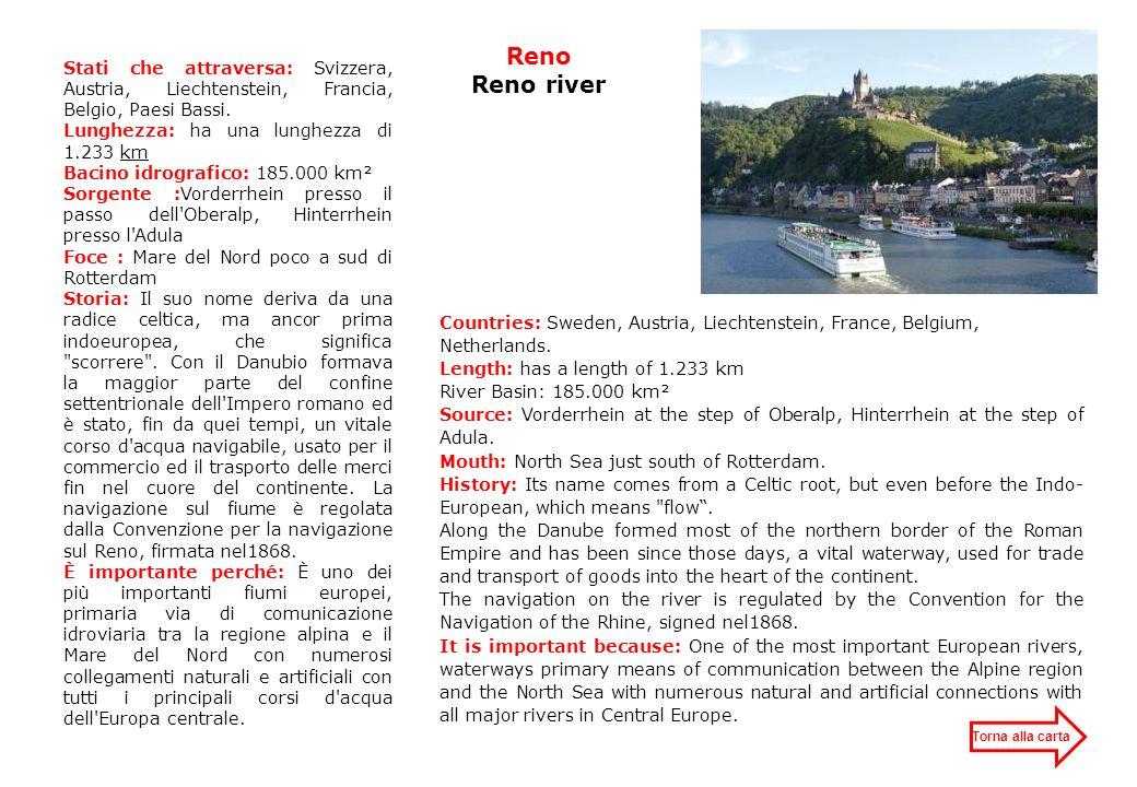 Nazioni che attraversa: Russia Bielorussia Lettonia Lunghezza: 1.020 km Bacino idrografico: 87.900 km² Sorgente: Rialto del Valdaj Foce: Golfo di Riga Storia: la Dvina Occidentale, o Daugava (questo nome nasce dallantico baltico e significa la grande acqua), ha rappresentato unimportante via di commercio e di comunicazione per millenni.