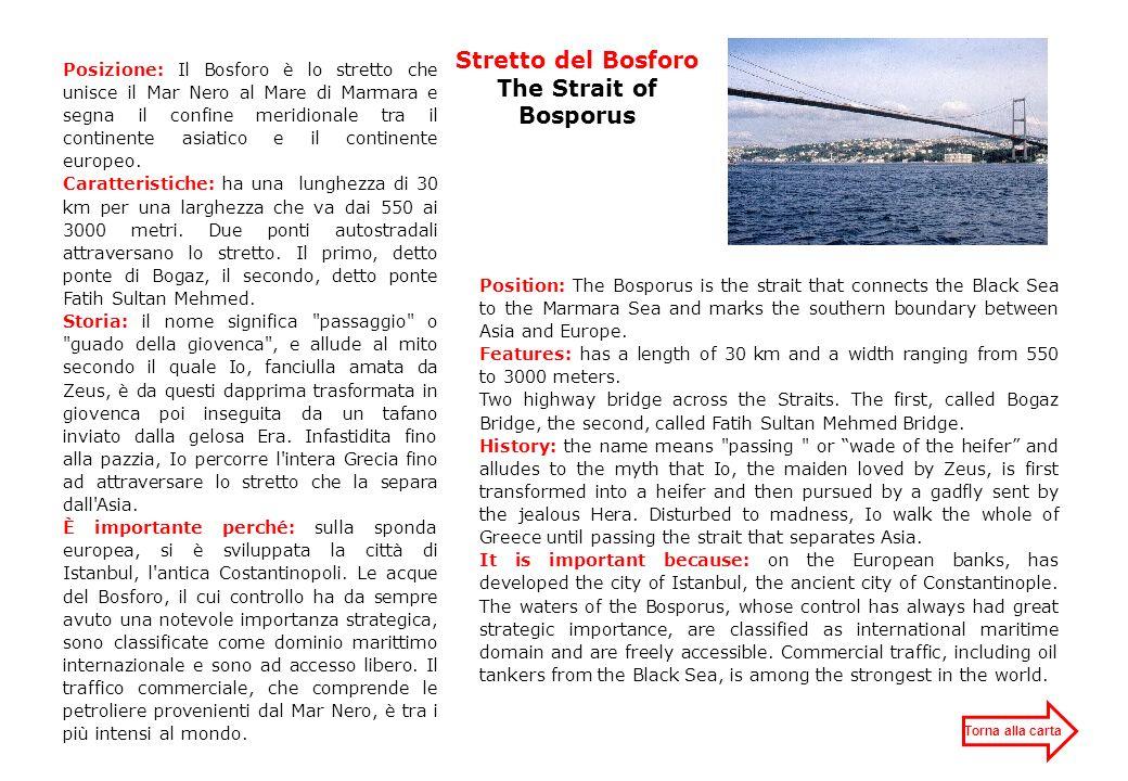 Stretto di Gibilterra The Strait of Gibraltar Posizione: Lo stretto di Gibilterra mette in comunicazione l Oceano Atlantico e il Mar Mediterraneo.