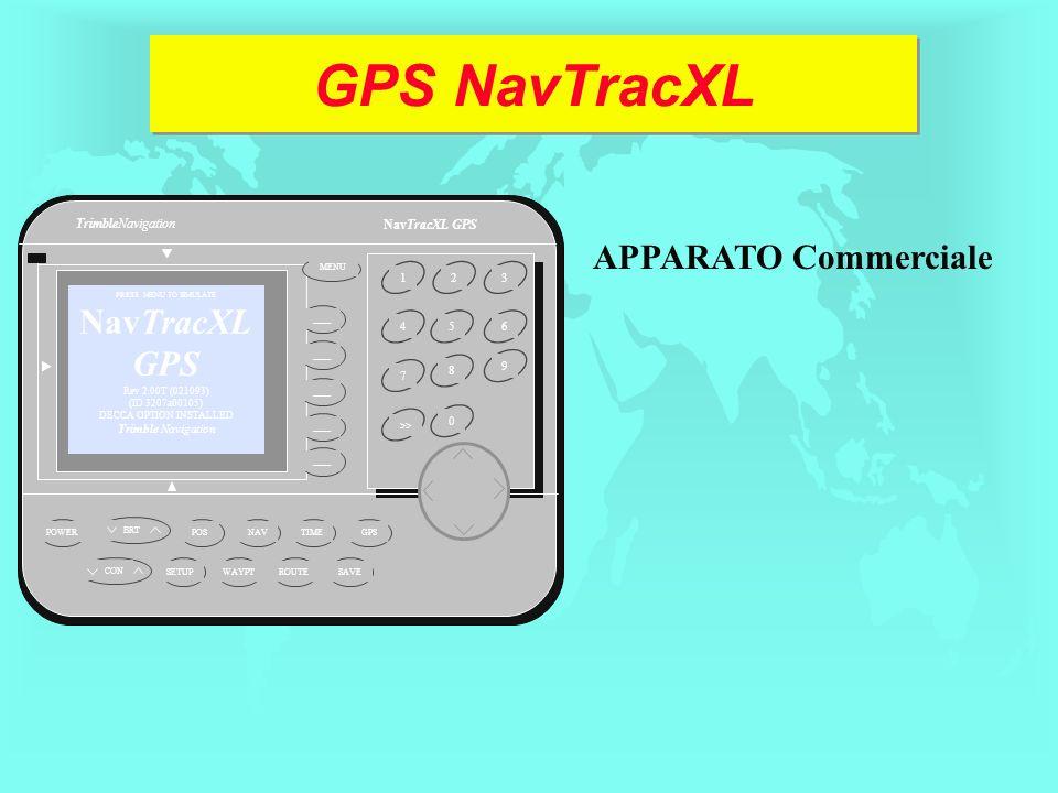 GPS NavTracXL 1234 5 6 7 >> 9 80 POWER GPS TIME NAV POSSETUPWAYPTROUTE SAVE PRESS MENU TO SIMULATE NavTracXL GPS Rev 2.00T (021093) (ID 3207a00105) DE