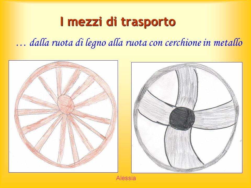 I mezzi di trasporto … dalla ruota di legno alla ruota con cerchione in metallo Alessia