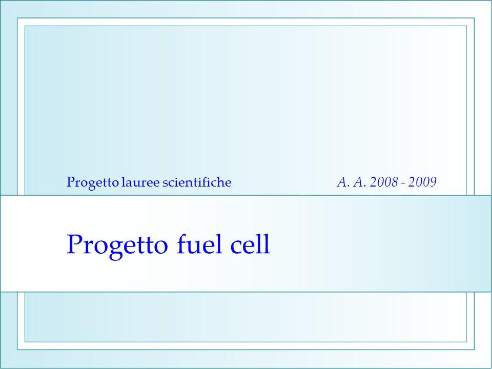 Progetto fuel cell Progetto lauree scientifiche A. A. 2008 - 2009