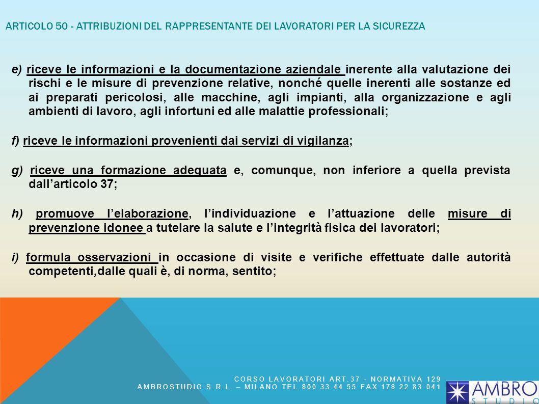 SEZIONE VII - CONSULTAZIONE E PARTECIPAZIONE DEI RAPPRESENTANTI DEI LAVORATORI N° 6 ARTICOLI (DA ART. 47 A ART. 52) ARTICOLO 48 - RAPPRESENTANTE DEI L