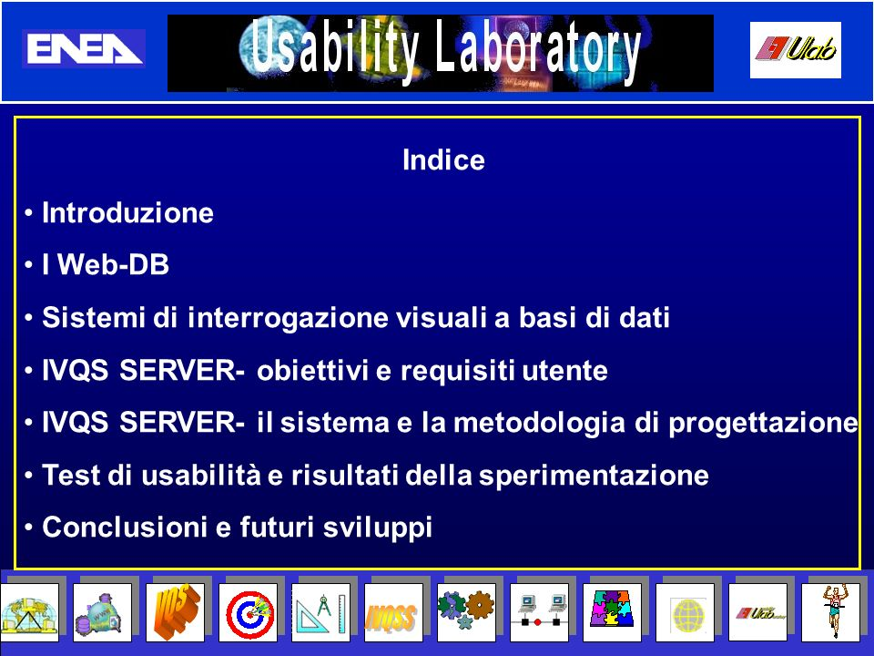 User Manager Query Manager Repository Manager XML Manager Email Manager Login/ Logout Transaction Manager Maintenence Statistic Manager Ripristino Kernel Maintenence Effettua opere di manutenzione del server, quali: Cancellazione file scaduti, Cancellazione dati obsolescenti da DB Lato server IVQS SERVER Architettura interna