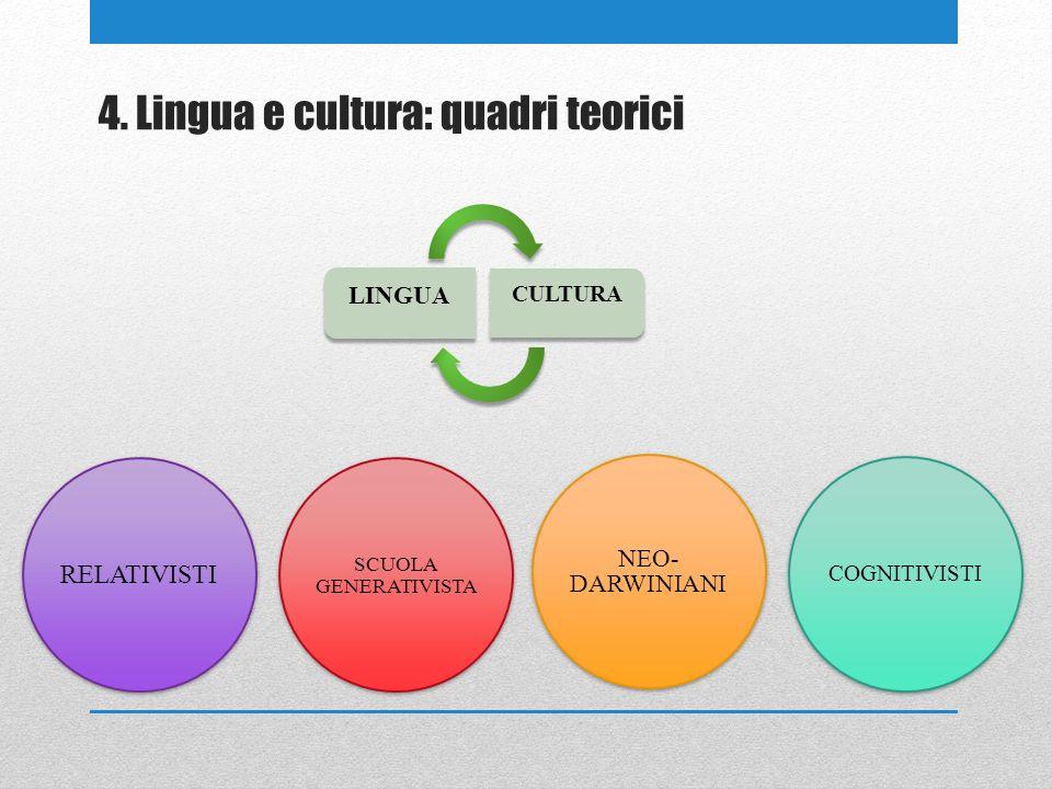 4. Lingua e cultura: quadri teorici