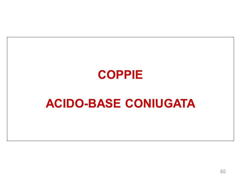 50 COPPIE ACIDO-BASE CONIUGATA