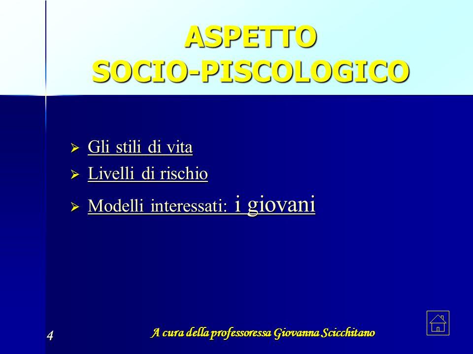 A cura della professoressa Giovanna Scicchitano 4 ASPETTO SOCIO-PISCOLOGICO G G llll iiii s s s s tttt iiii llll iiii d d d d iiii v v v v iiii tttt a
