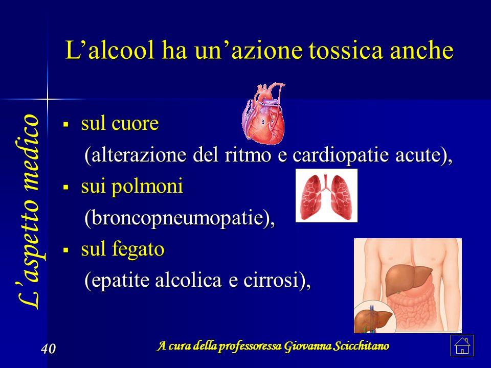 A cura della professoressa Giovanna Scicchitano 40 sul cuore sul cuore (alterazione del ritmo e cardiopatie acute), (alterazione del ritmo e cardiopat