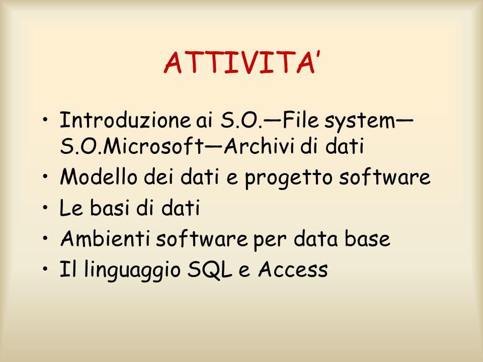 Un Sistema Operativo (S.O.) viene definito come un programma o un insieme di programmi, che garantisce agli utenti una visione astratta delle risorse ed una loro gestione corretta, sicura ed efficiente.