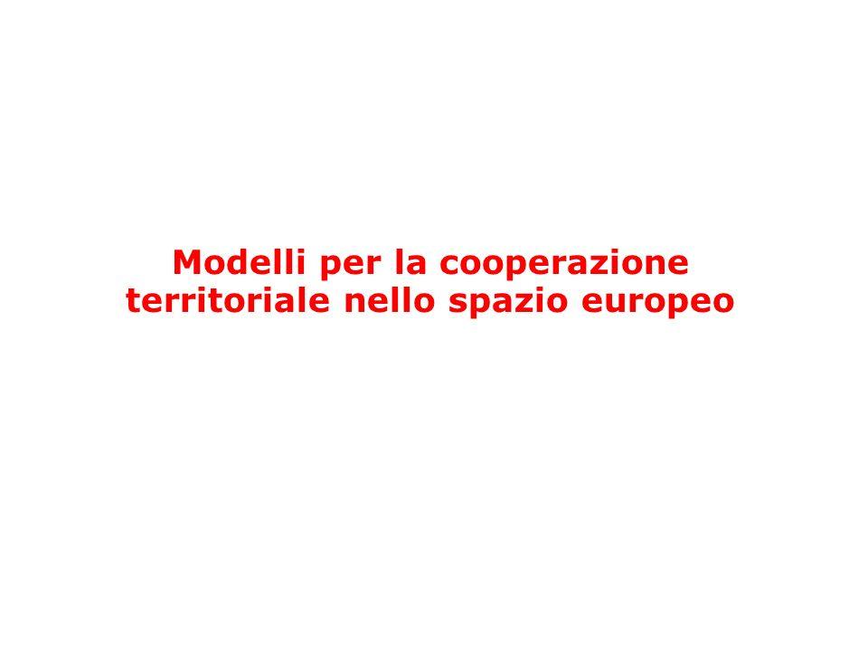 Modelli per la cooperazione territoriale nello spazio europeo