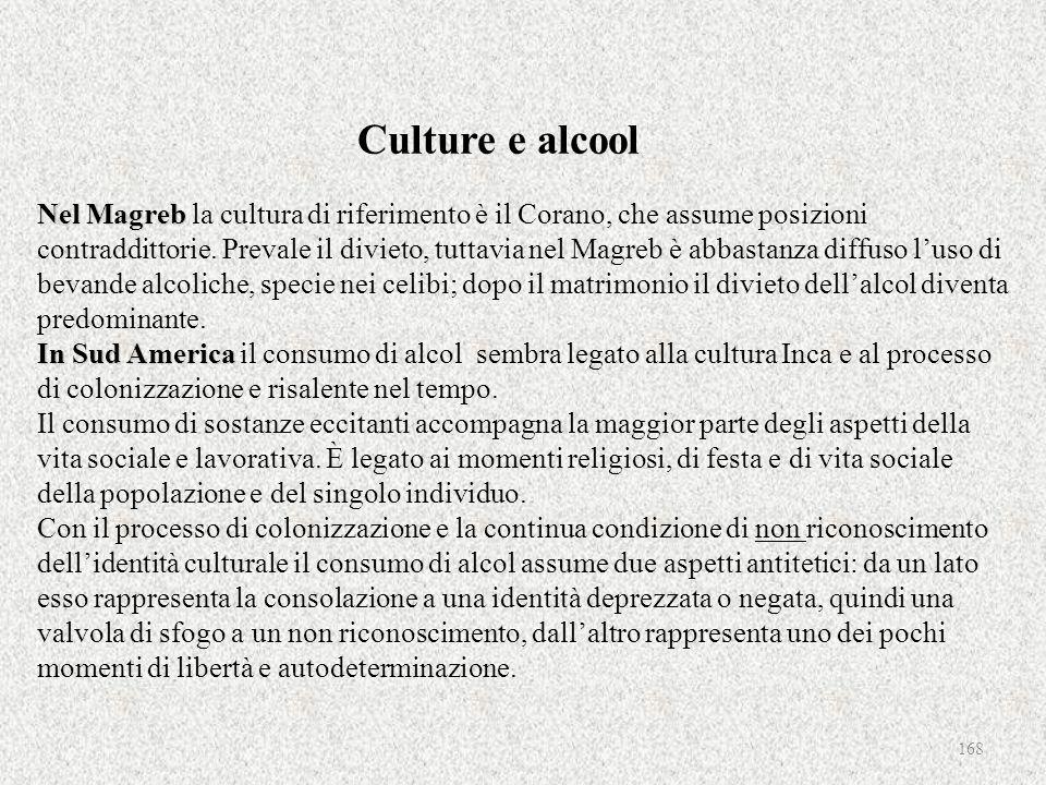 Nel Magreb In Sud America Culture e alcool Nel Magreb la cultura di riferimento è il Corano, che assume posizioni contraddittorie. Prevale il divieto,
