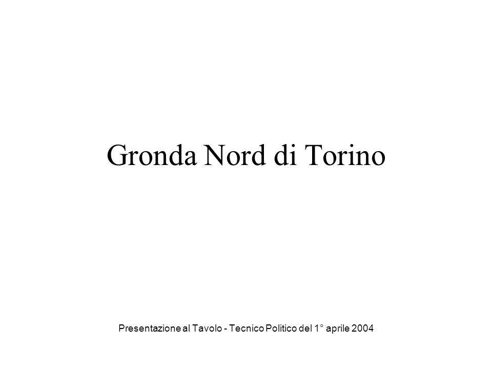 Gronda Nord di Torino Presentazione al Tavolo - Tecnico Politico del 1° aprile 2004