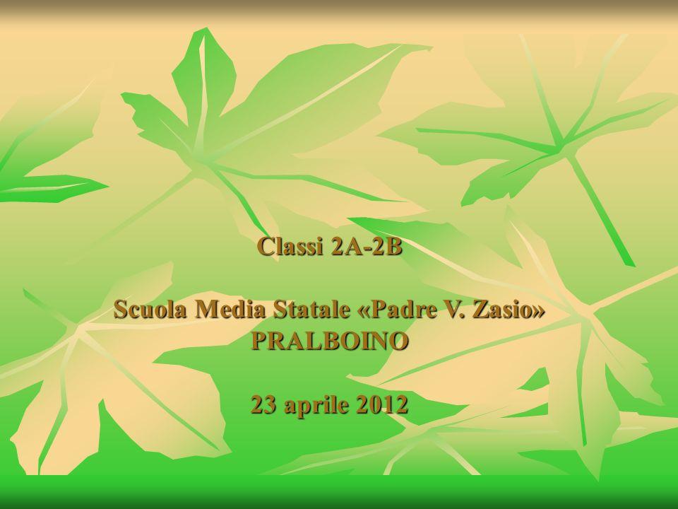 Classi 2A-2B Scuola Media Statale «Padre V. Zasio» PRALBOINO 23 aprile 2012