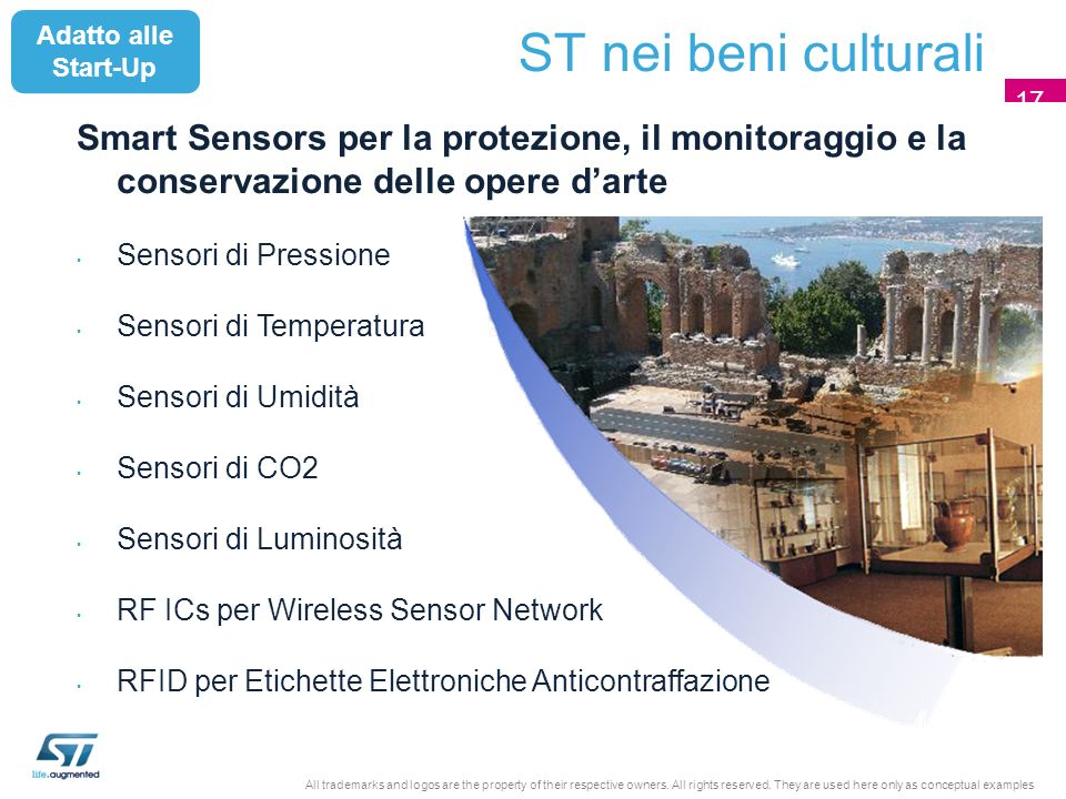 Smart Sensors per la protezione, il monitoraggio e la conservazione delle opere darte Sensori di Pressione Sensori di Temperatura Sensori di Umidità S