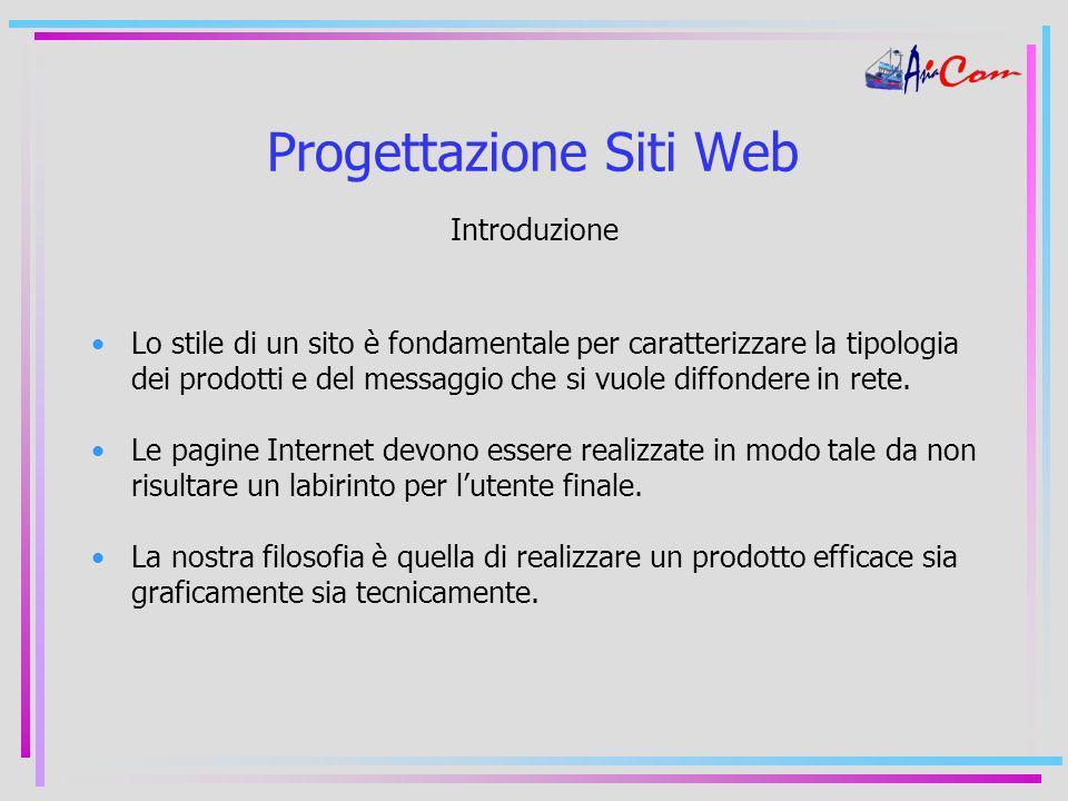 Progettazione Siti Web Introduzione Lo stile di un sito è fondamentale per caratterizzare la tipologia dei prodotti e del messaggio che si vuole diffondere in rete.