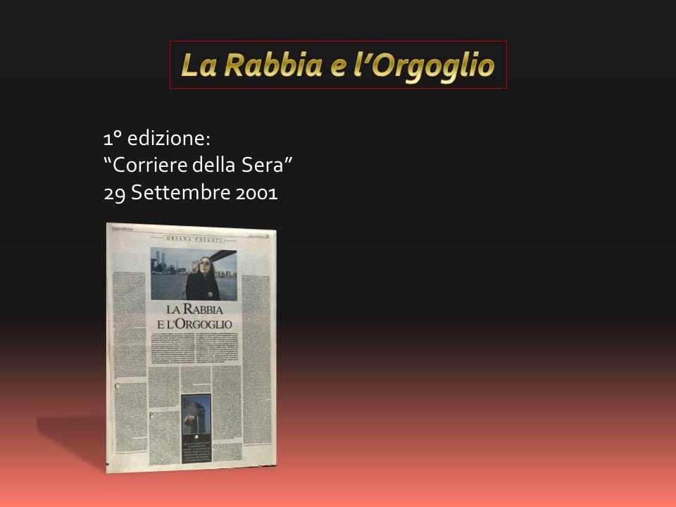 1° edizione: Corriere della Sera 29 Settembre 2001