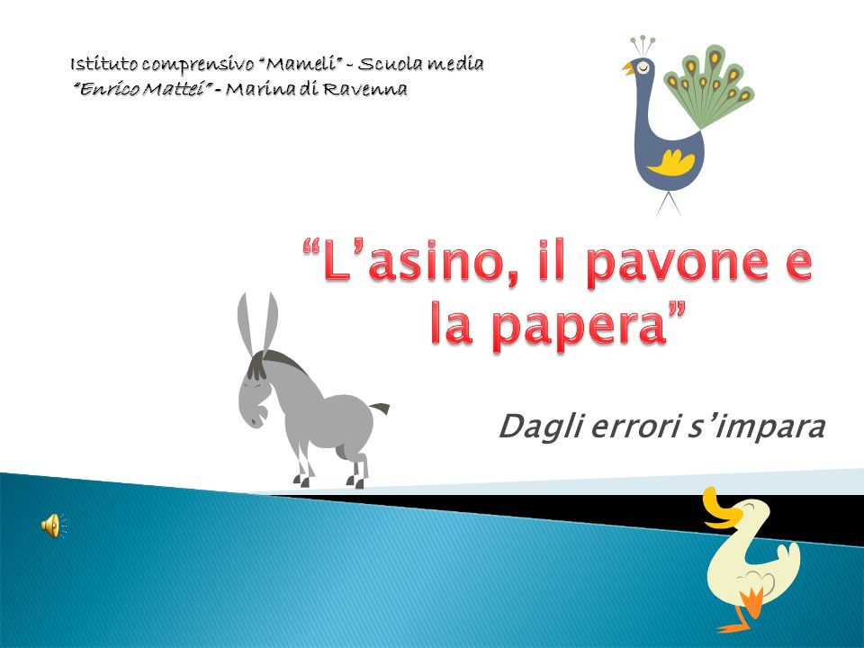 Dagli errori simpara Istituto comprensivo Mameli - Scuola media Enrico Mattei - Marina di Ravenna