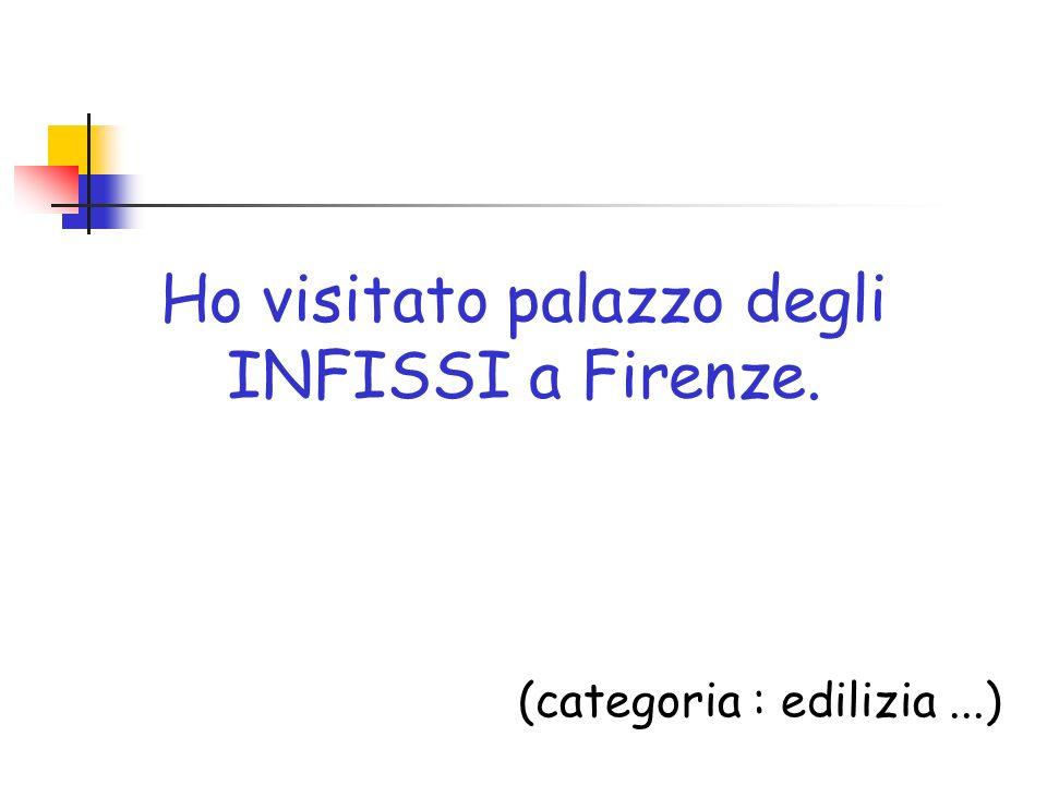 Ho visitato palazzo degli INFISSI a Firenze. (categoria : edilizia...)