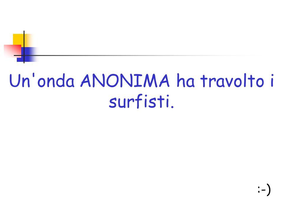 Un'onda ANONIMA ha travolto i surfisti. :-)