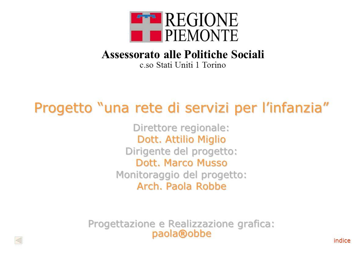 Progetto una rete di servizi per linfanzia Direttore regionale: Dott.