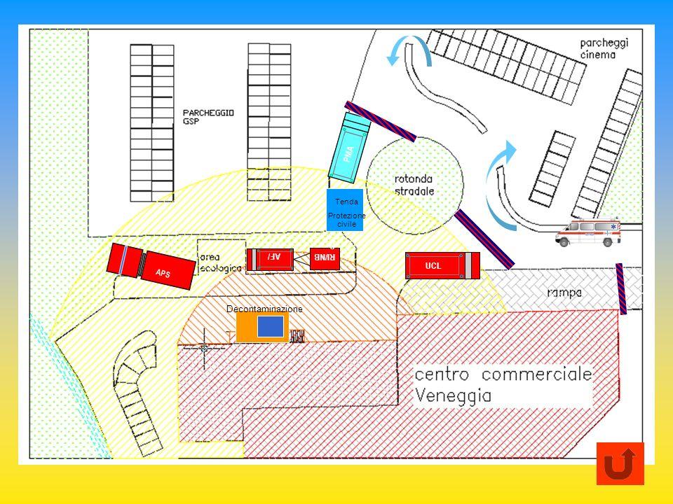 APS AF/ UCL RI/NB C UCL PMA Tenda Protezione civile Decontaminazione