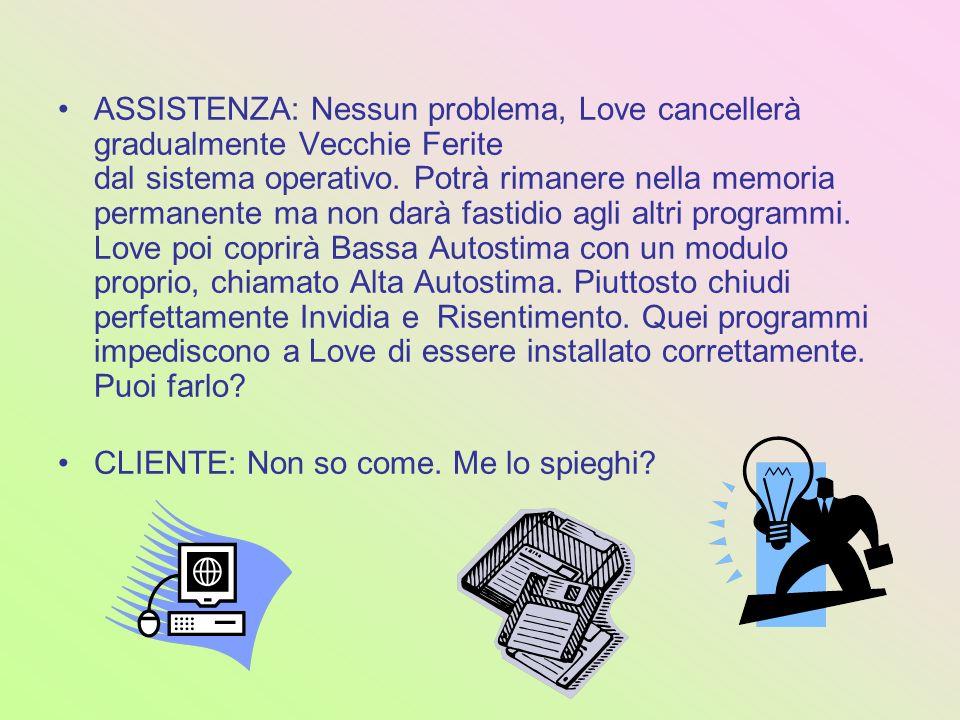 ASSISTENZA: Nessun problema, Love cancellerà gradualmente Vecchie Ferite dal sistema operativo. Potrà rimanere nella memoria permanente ma non darà fa