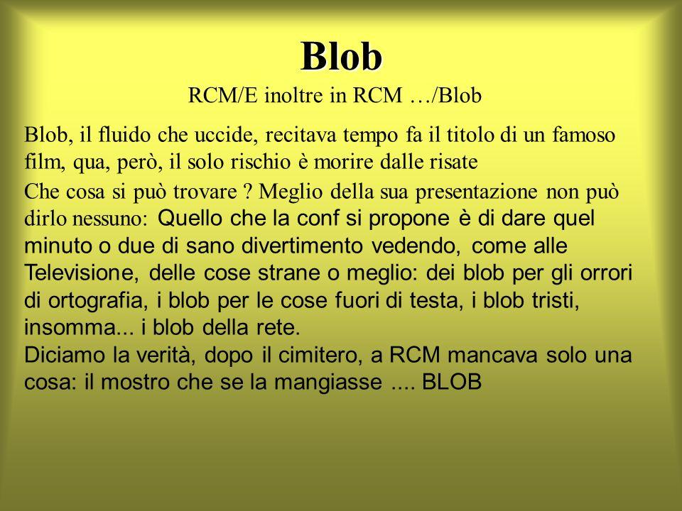 Blob Blob, il fluido che uccide, recitava tempo fa il titolo di un famoso film, qua, però, il solo rischio è morire dalle risate Che cosa si può trovare .