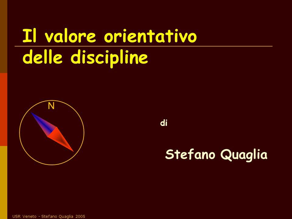 USR Veneto - Stefano Quaglia 2005 Lo studio di diverse aree del sapere deve integrarsi in una visione globale dotata di senso e questa non si raggiunge se non attraverso l accordo dei docenti sugli obiettivi.