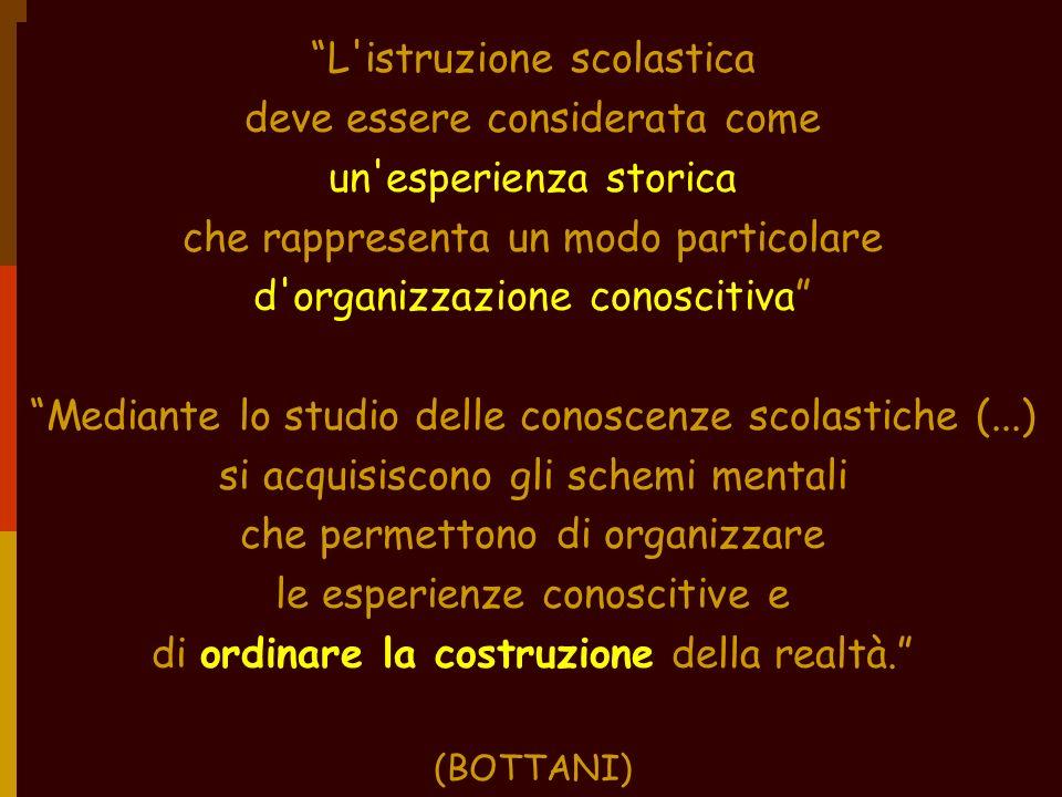 USR Veneto - Stefano Quaglia 2005 L'istruzione scolastica deve essere considerata come un'esperienza storica che rappresenta un modo particolare d'org