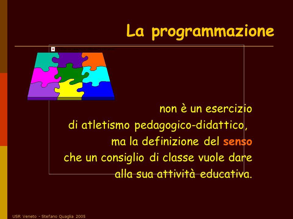 USR Veneto - Stefano Quaglia 2005 non è un esercizio di atletismo pedagogico-didattico, ma la definizione del senso che un consiglio di classe vuole d