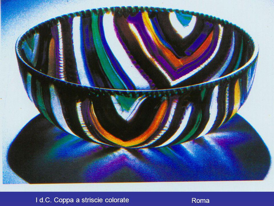 I d.C. Coppa a striscie colorate Roma