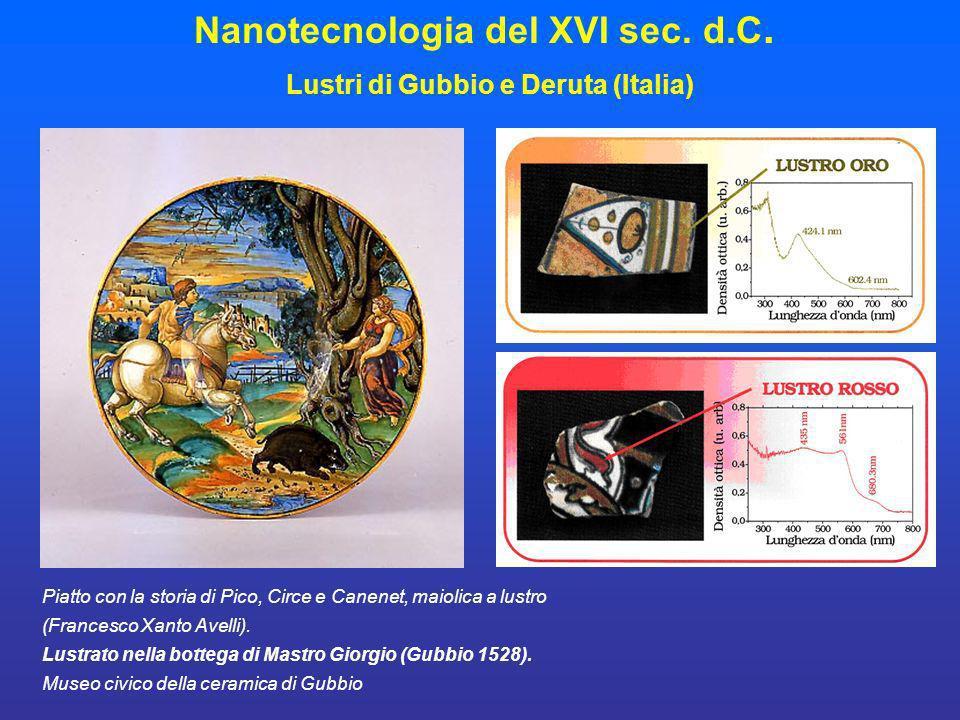 Piatto con la storia di Pico, Circe e Canenet, maiolica a lustro (Francesco Xanto Avelli). Lustrato nella bottega di Mastro Giorgio (Gubbio 1528). Mus
