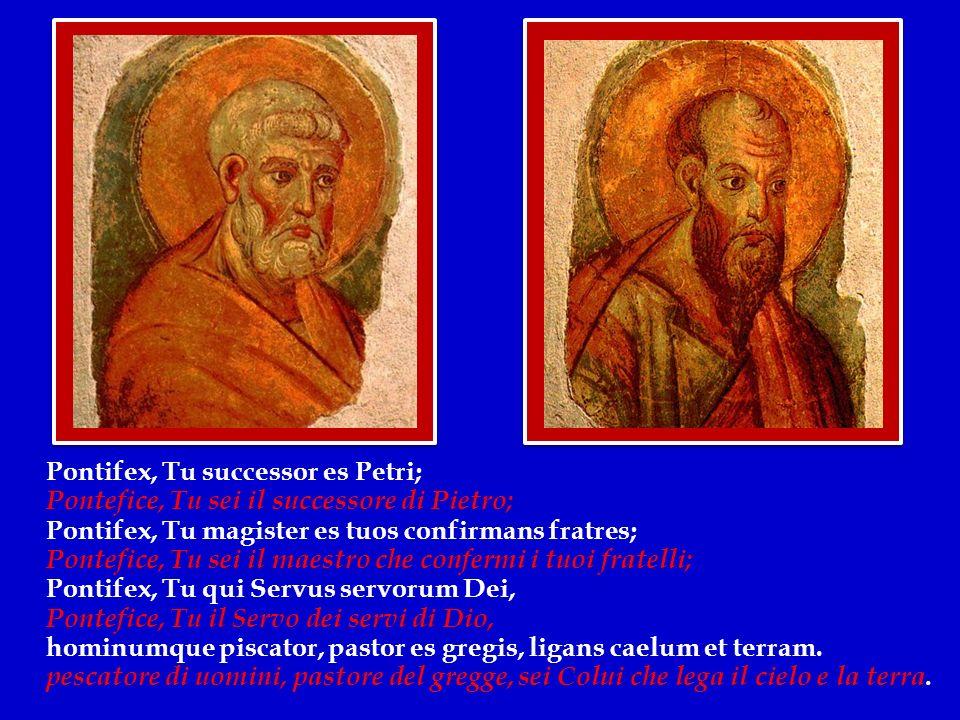 Oggi nella solennità dei Santi Pietro e Paolo, Patroni di questa Città, cantiamo così: Felice Roma, perché fosti imporporata dal prezioso sangue di così grandi Principi.
