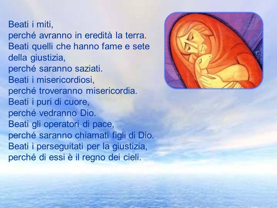 Vangelo Mt 5,1-12a Rallegratevi ed esultate, perché grande è la vostra ricompensa nei cieli. + Dal Vangelo secondo Matteo In quel tempo, vedendo le fo