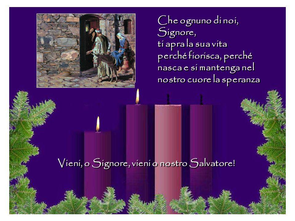 I profeti tennero accesa la speranza del popolo di Israele Anche noi, come simbolo, accendiamo le due candele. Il tronco vecchio sta rinvigorendo perc