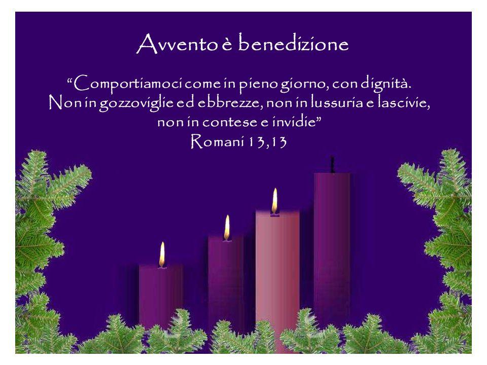 Accendendo queste tre candele vogliamo essere una lampada che brilla, una fiamma che riscalda. Vieni, Signore, a salvarci, avvolgici con la tua luce,