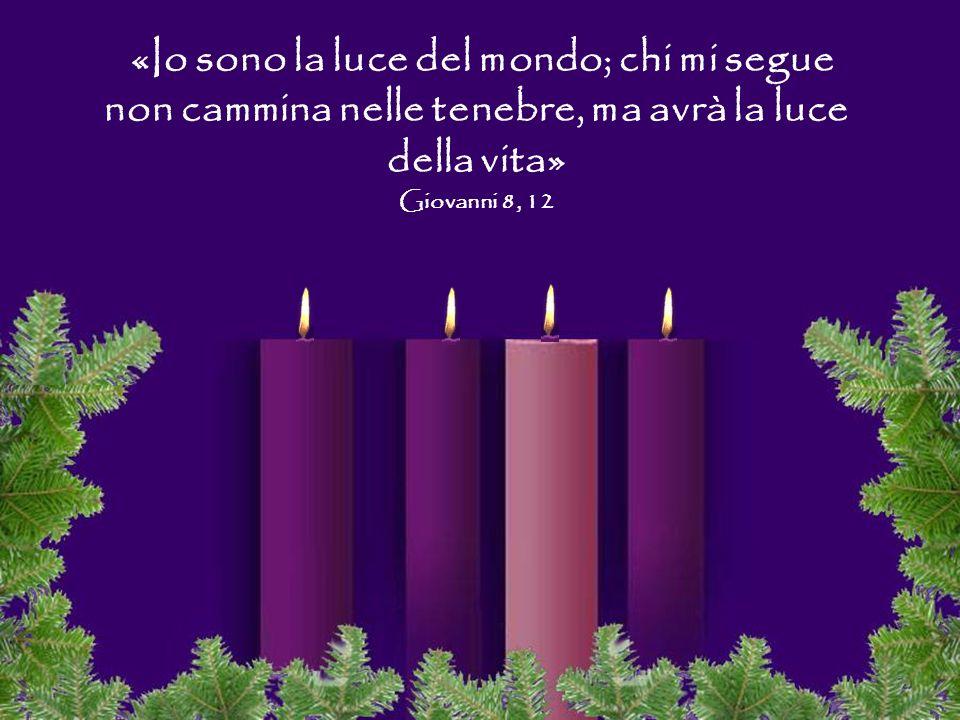 «Io sono la luce del mondo; chi mi segue non cammina nelle tenebre, ma avrà la luce della vita» Giovanni 8, 12