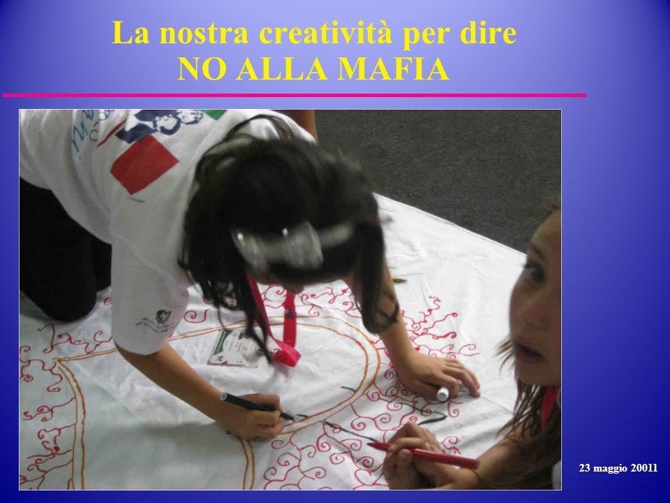La nostra creatività per dire NO ALLA MAFIA 23 maggio 20011