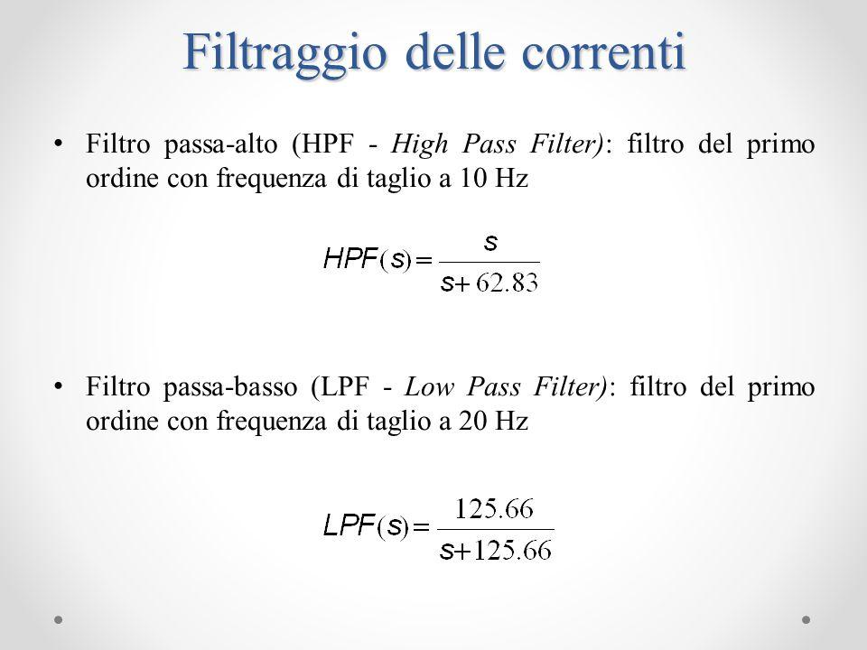 Collision-Detection Per determinare una collisione le correnti filtrate sono confrontate con delle soglie variabili nel tempo e dipendenti dalle accelerazioni e velocità di riferimento.