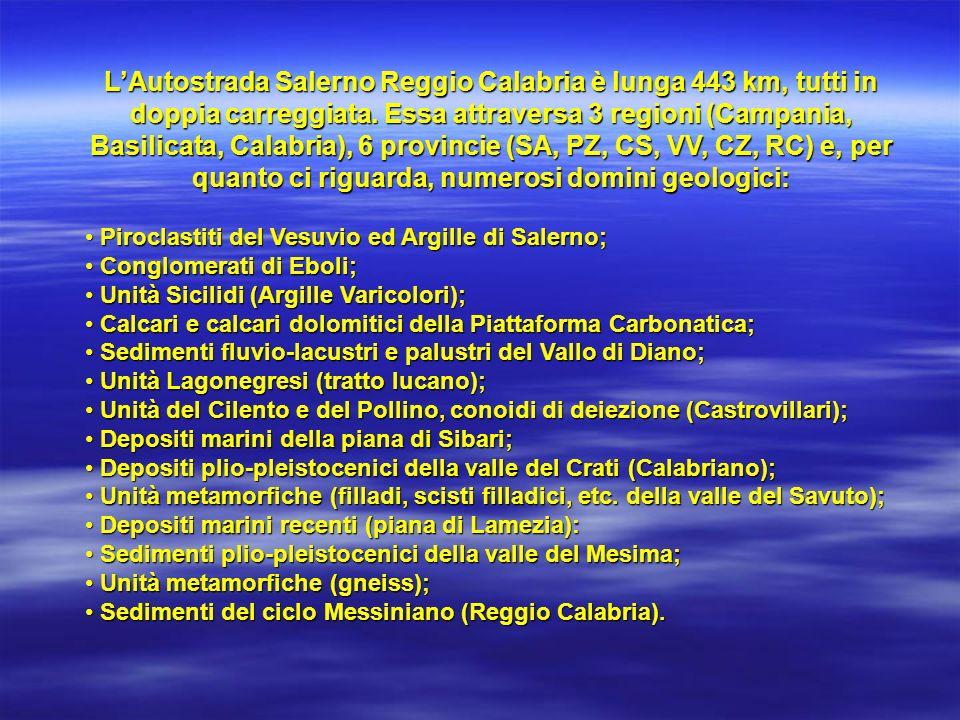 Sviluppo planimetrico dellAutostrada SA/RC Tronco 1: da Salerno a Lauria Sud (Sezione SA)