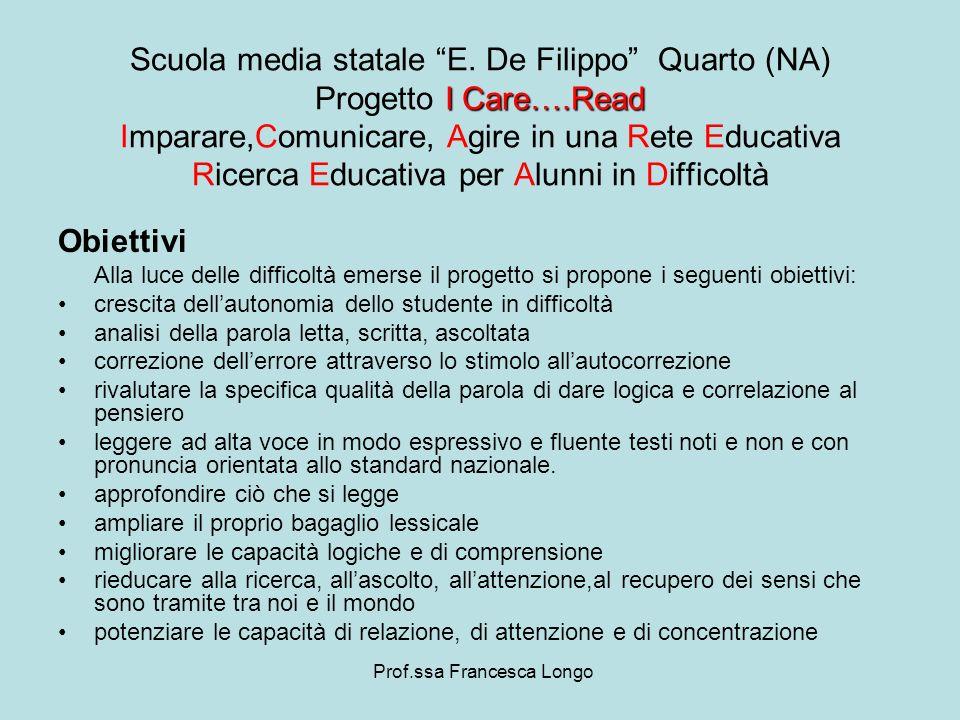 Obiettivi Alla luce delle difficoltà emerse il progetto si propone i seguenti obiettivi: crescita dellautonomia dello studente in difficoltà analisi d