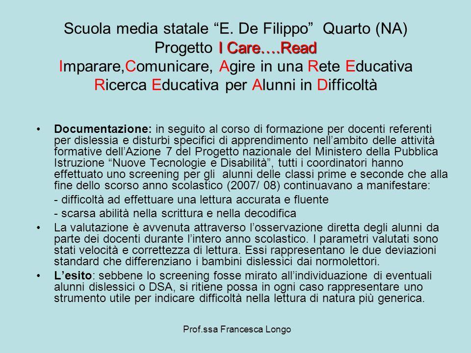 Documentazione: in seguito al corso di formazione per docenti referenti per dislessia e disturbi specifici di apprendimento nellambito delle attività
