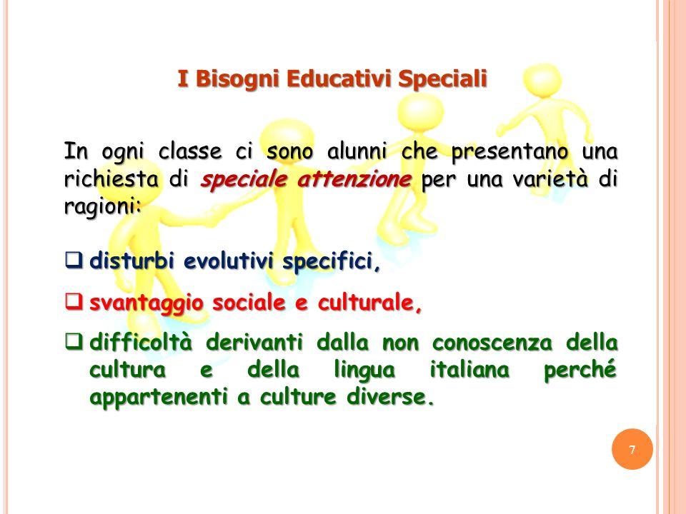 In ogni classe ci sono alunni che presentano una richiesta di speciale attenzione per una varietà di ragioni: disturbi evolutivi specifici, disturbi e